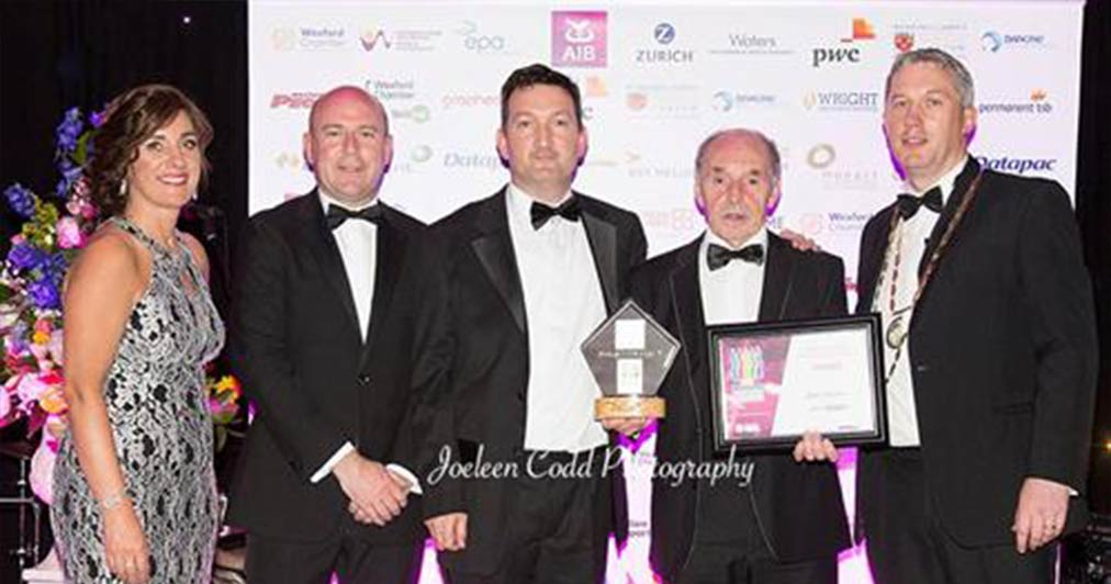 Photo of Kent team at Wexford International trade awards