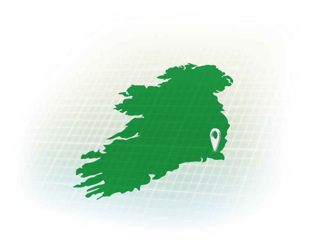 Location map of Kents office in Ireland