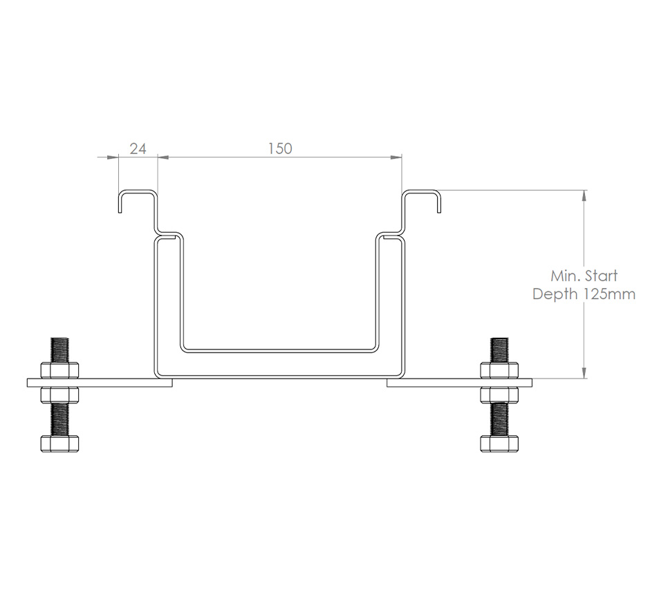 Dimensions of Kents double contained drain channel