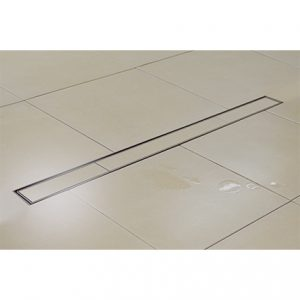 Kents linear shower channel drains in use