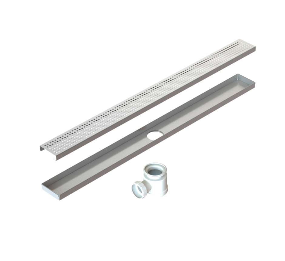 Model of Kents linear shower drain and its parts