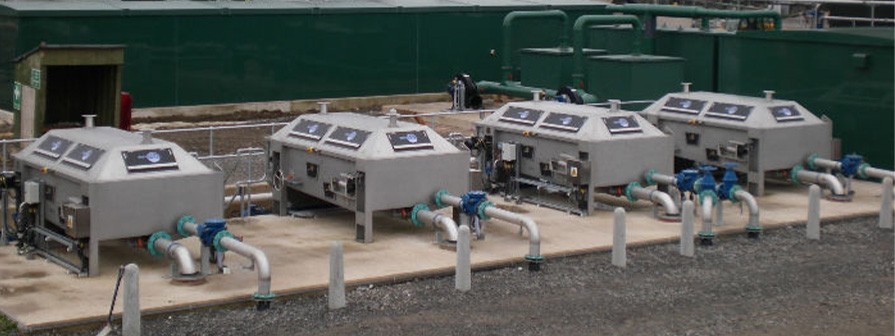 Dewatering Machinery for Sludge Thickening