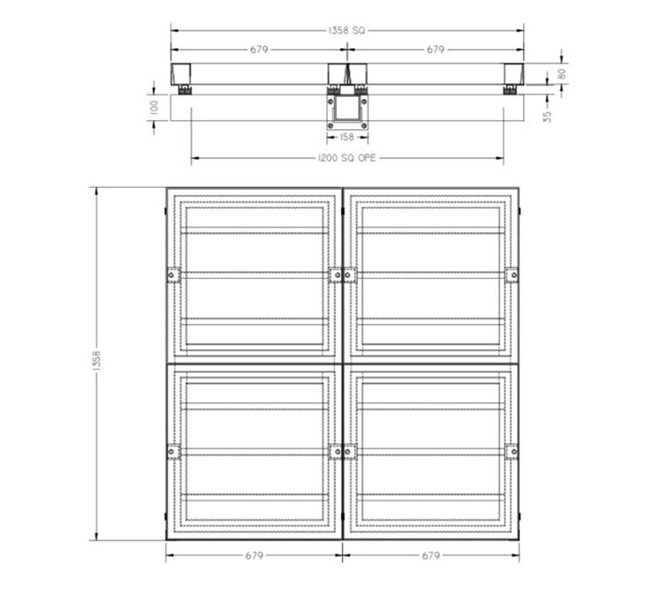 Line drawing of Kent's Multi Internal Manhole