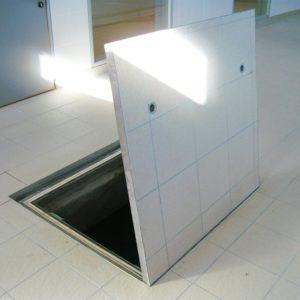 Kent's Hinged Internal Manhole in use