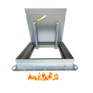 Model of Hinged Single Fire Rated Access Cover by Kent