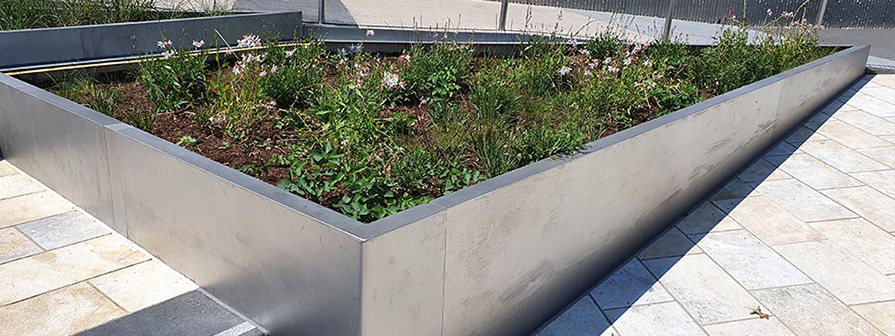 Stainless Steel Planters by Kent