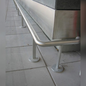 Close up of Kent's Floor Mounted Bump Rail for Airports