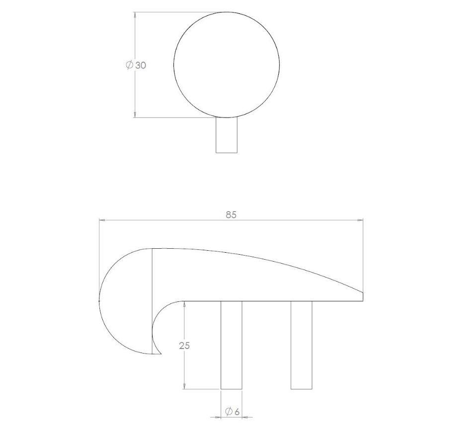 stainless-steel-anti-skateboard studs-line-drawing-KASS855