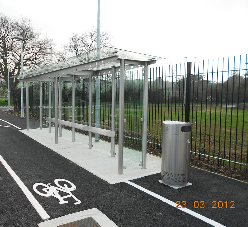 Kents stainless steel Carrickmines waiting shelter