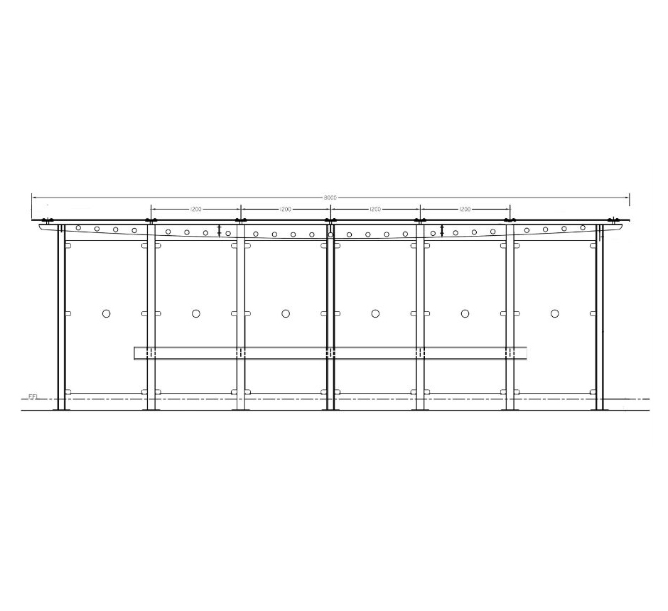 Drawing of Carrickmines waiting shelter