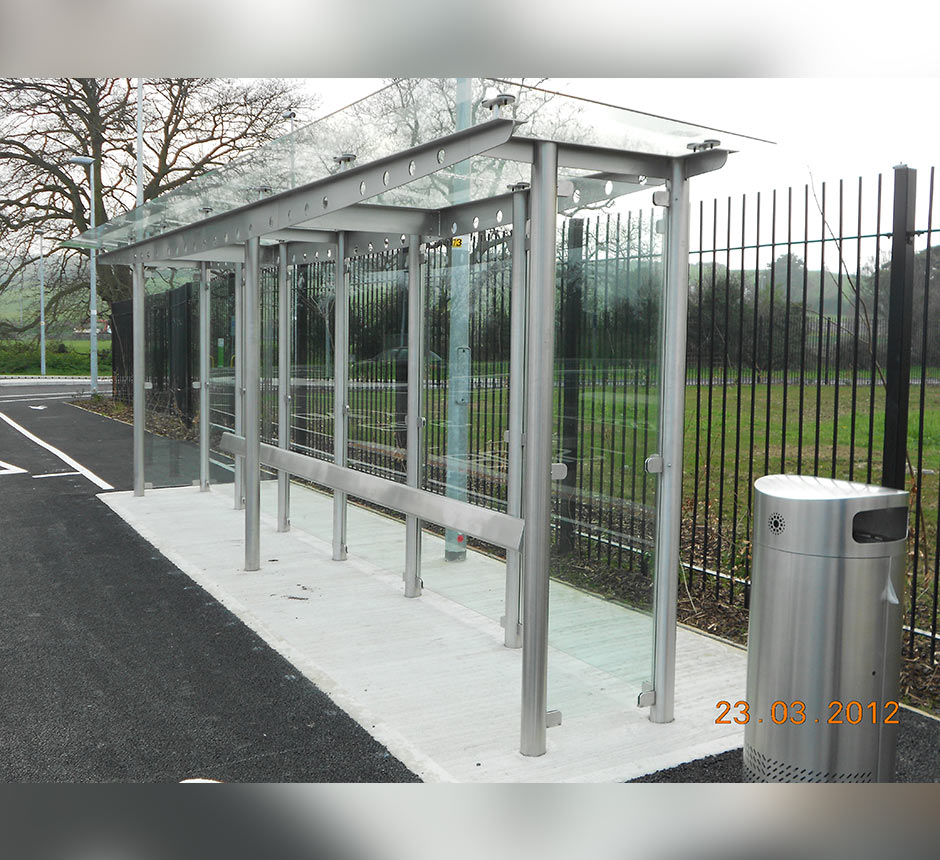 Side angle view of Kents Carrickmines waiting shelter