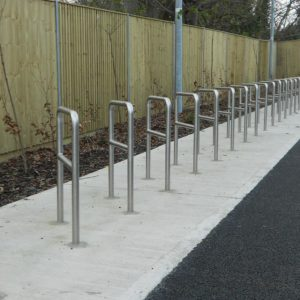 Kent's Crossbar Cycle Stands in use