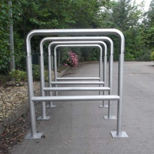 Close up view of Kent's Canterbury Cycle Stand