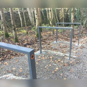 Kent's Norman Way Cycle Stands in use