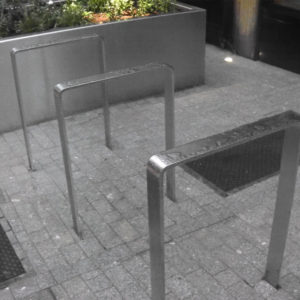 Kent's Shoreditch Cycle Stand in use