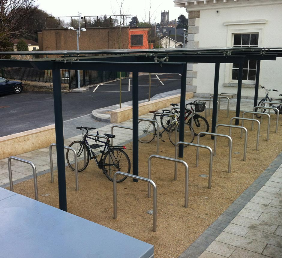 Kents bicycle shelter in Dundrum being used