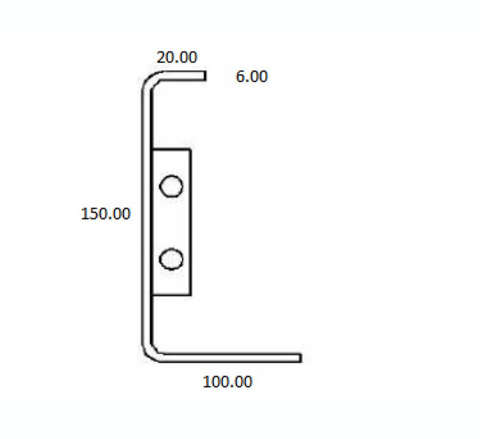 Dimensions of Kents C shaped planter edging