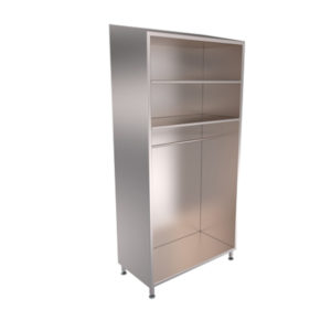 3D Model of Kent's Stainless Steel Garment Cabinets
