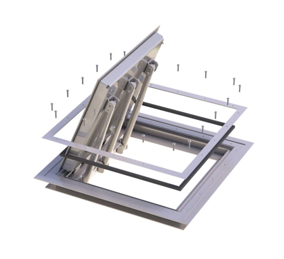 Model of Kent's Hinged Vinyl Manhole