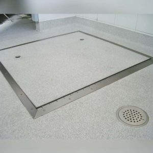 Kent's Hinged Vinyl Manhole in use