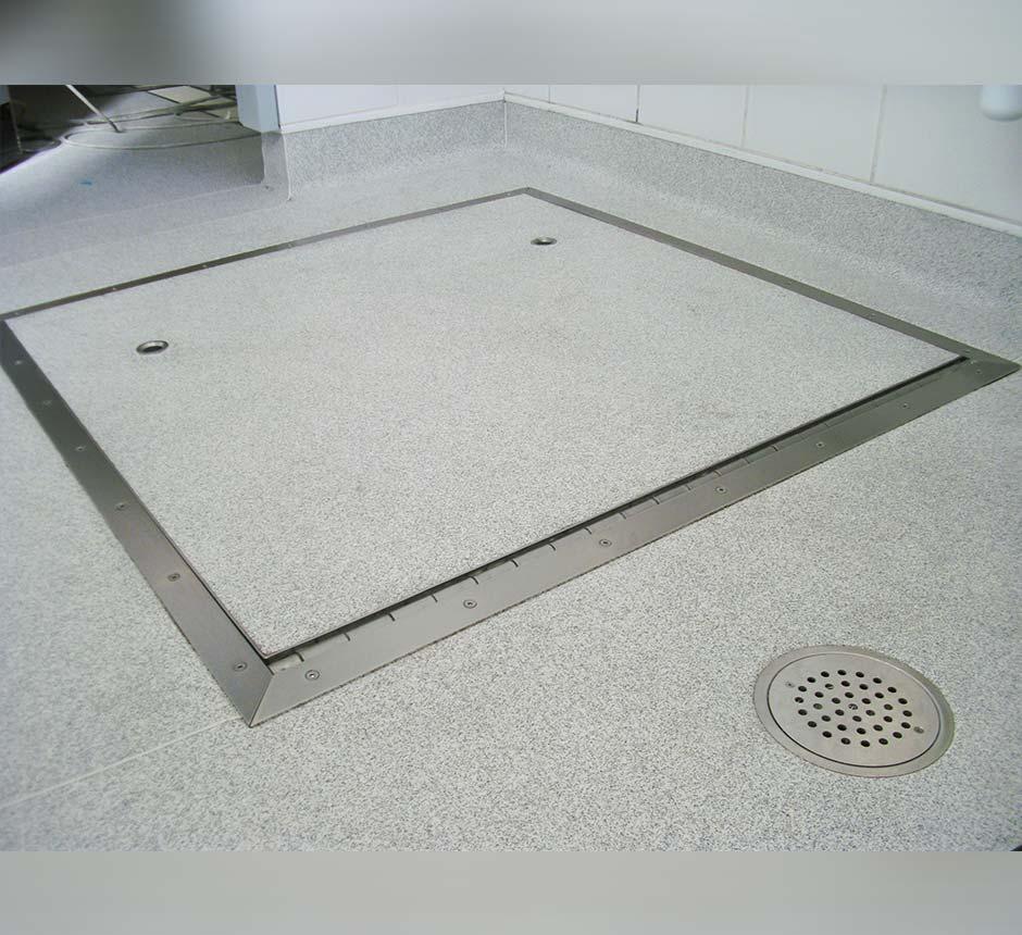Kent's Hinged Vinyl Manhole in use