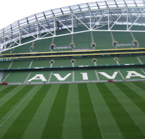 small picture of inside the aviva stadium