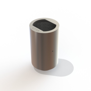 Stainless steel Roma litter bin by Kent
