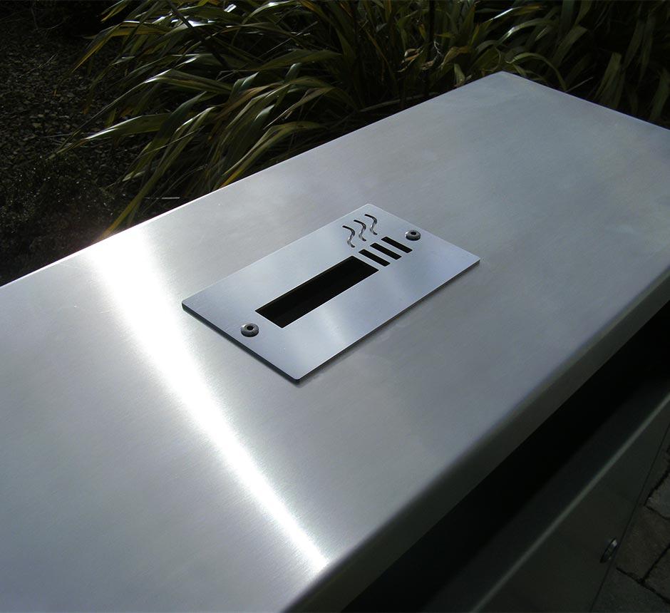 Ash tray of Kents Arsenal litter bin