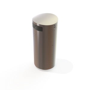 Stainless steel Barcelona litter bin by Kent