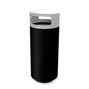 Kent's Two tone stainless steel Barcelona litter bin
