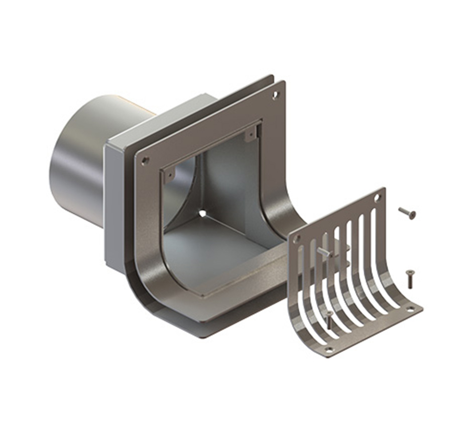 Parapet drain and its parts by Kent