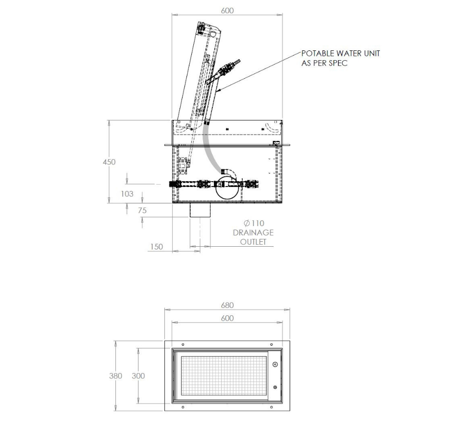 stainless-steel-paver-in-ground-potable-water-unit-line-drawing-(KIGPWU-600-30
