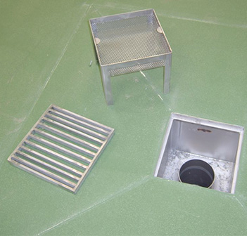 Stainless steel drain gully by Kent