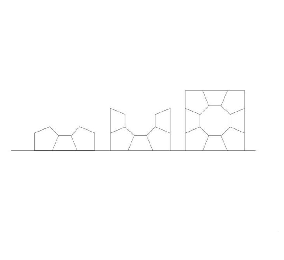 Line drawing of Kents cityscape concrete sculpture