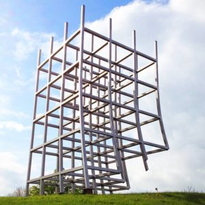 Side view of Kents ceatharlach castle sculpture