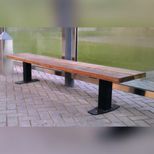 Side angle view of Kents Waterford bench