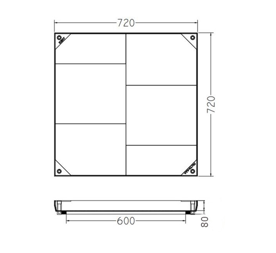 Line drawing of Kent's Solo Internal Manhole