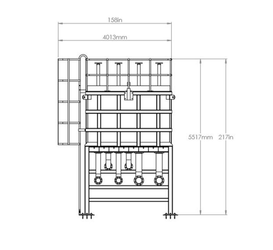 Line drawing of Kent's Splitter Box Flow Control Tank