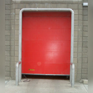 Stainless steel door barrier by Kent
