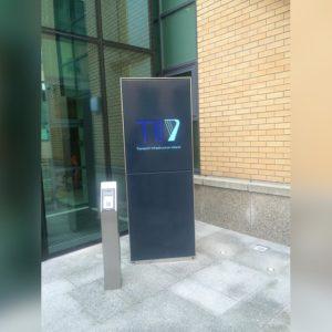 Vandal resistant building entrance totem
