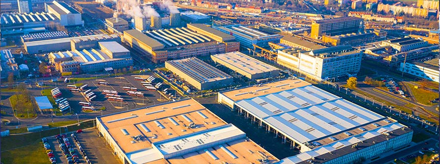 Drone view of Industrial area