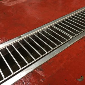 Kent's stainless steel ladder grating in use