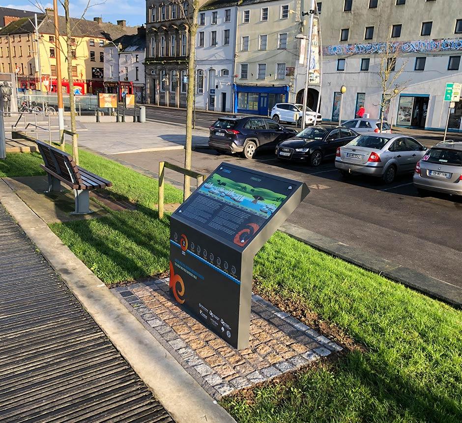 Street View of Kent's wayfinding lectern