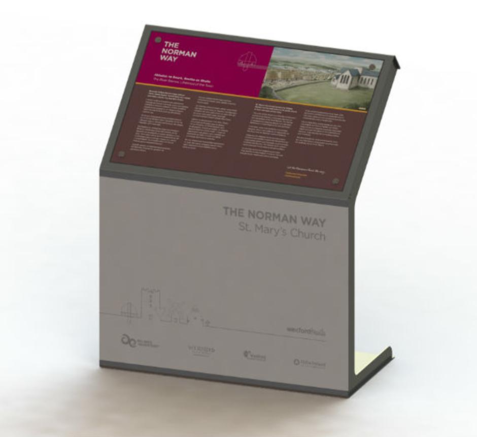 Model of Kent's wayfinding lectern
