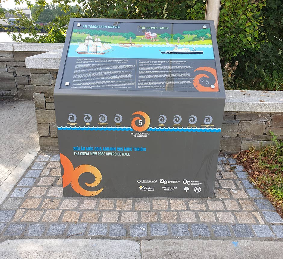 Front view of Kent's wayfinding lectern