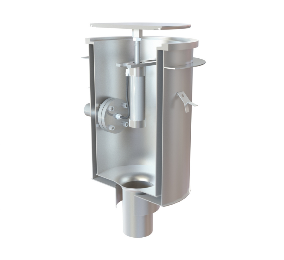 inless steel pneumatic industrial gully side outlet